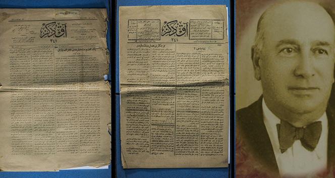 Antalyada 100 yıl öncesinin gazetesi bulundu