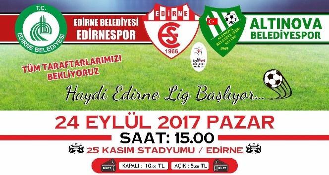 Edirne Belediyesi Edirnespor'un lig mücadelesi başlıyor