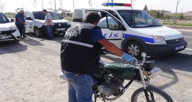 Şanlıurfa'dan çalınan motosiklet 6 yıl sonra Aksaray'da bulundu