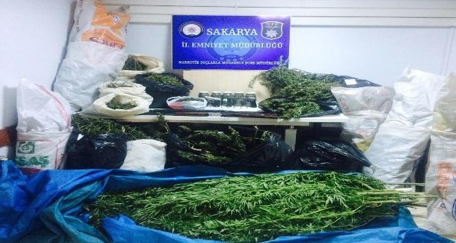 Sakarya'da 39 kilogram esrar maddesi ele geçirildi