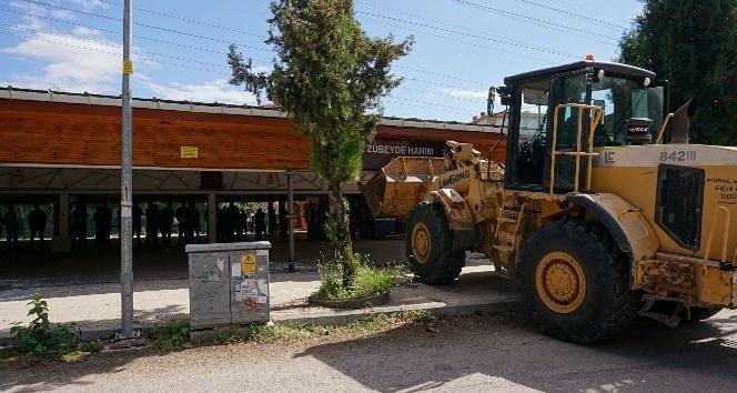 Edirne'de ruhsatsız kafe yıkıldı