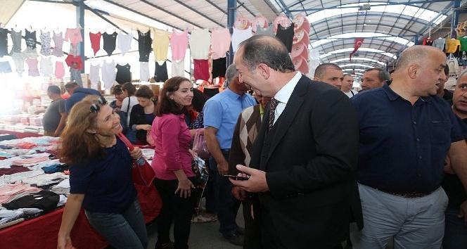 Edirne Belediye Başkanı Gürkan Ulus Pazarı'nda