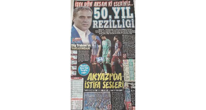 Trabzonsporda tarihi yenilginin yankıları sürüyor