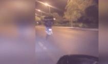 Başkentte tehlikeli yolculuk! Motosikletle varil taşıdı
