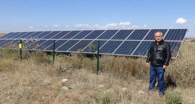 Köyü için güneşten enerji sağlıyor
