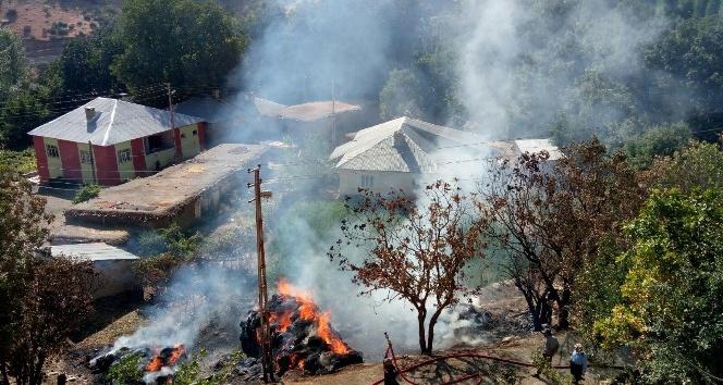 Durankaya beldesinde büyük yangın