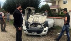Takla atan araçta bulunan 4 kişi yaralandı