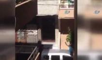 Uyuşturucu satıcısının polisle çatışma anı kameraya yansıdı