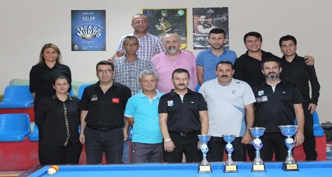 Karaman'da il kontenjanı üç bant bilardo turnuvası sona erdi