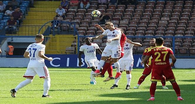 Süper Lig: K.Karabükspor: 0 - E.Y. Malatyaspor: 3 (İlk yarı )
