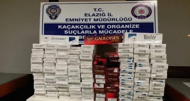 Elazığ'da bin 310 paket kaçak sigara ele geçirildi