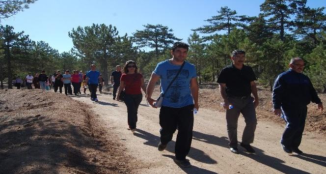 KMÜ, personeli sağlıklı yaşam için yürüdü