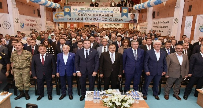 Bakan Eroğlu Gümüşhane'de 182 milyon TL'lik tesislerin temelini attı