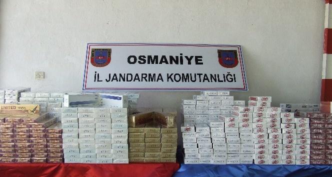 Yolcuların çuvalından 5 bin 500 paket kaçak sigara çıktı