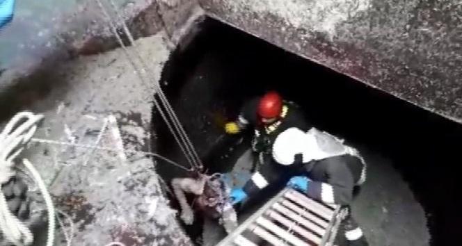 Kağıt hamur teknesine düşen işçi öldü