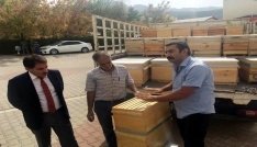 Tuncelide 600 organik kovan dağıtıldı