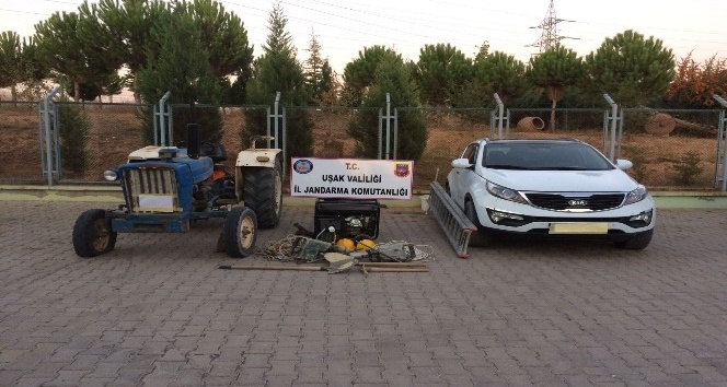 Uşak'ta kaçak kazı operasyonu