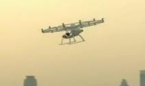 Drone taksilerin test sürüşüne başlandı