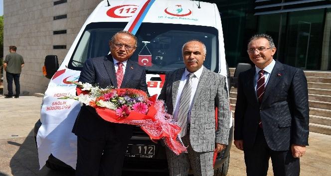 Hayırsever iş adamından  ambulans bağışı