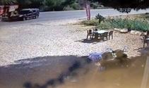 Orman işçisinin can verdiği feci kaza kamerada