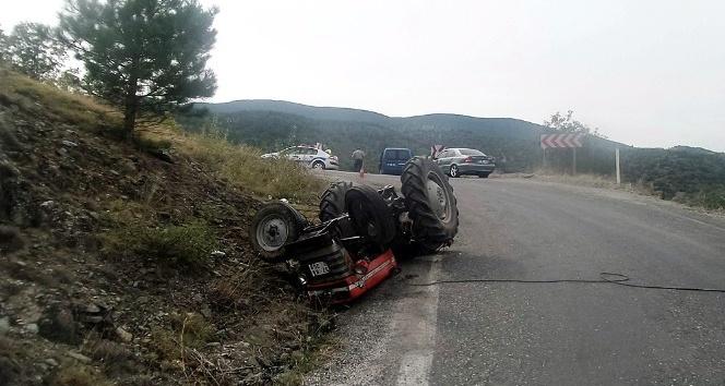 Kastamonu'da traktörün altında kalan sürücü yaralandı