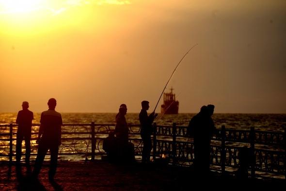 Sonbaharda Bursa sahillerinde gün batımı böyle görüntülendi