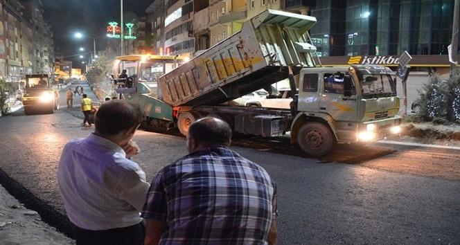 Hakkari'de duble asfalt çalışmaları devam ediyor
