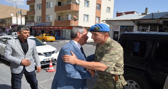 Yeni Tugay komutanından başkan Necati Gürsoy'a ziyaret