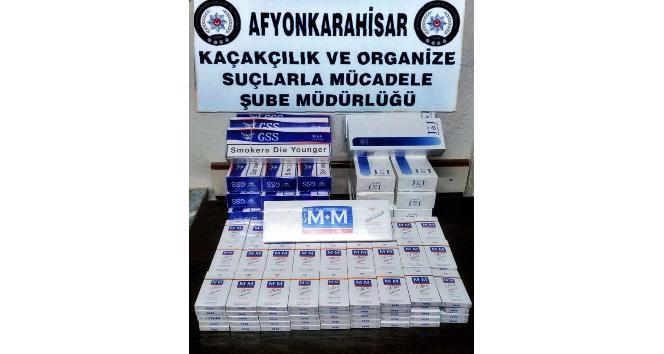 Polis 400 paket gümrük kaçağı sigara yakaladı