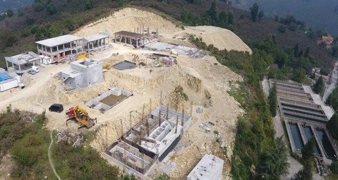 İçme suyu arıtma tesisi inşaatı yükseliyor
