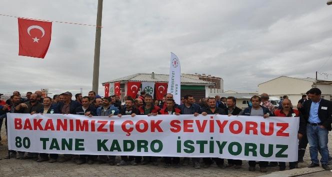 Bakan Arslan, Şeker Fabrikasının 24. Pancar Alım Kampanya Törenine katıldı