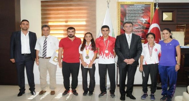 Kayapınar Belediye Başkan Vekili Balcı, başarılı sporcuları ağırladı