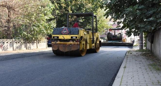 Yeni sanayi çarşısı asfaltlama çalışması başladı