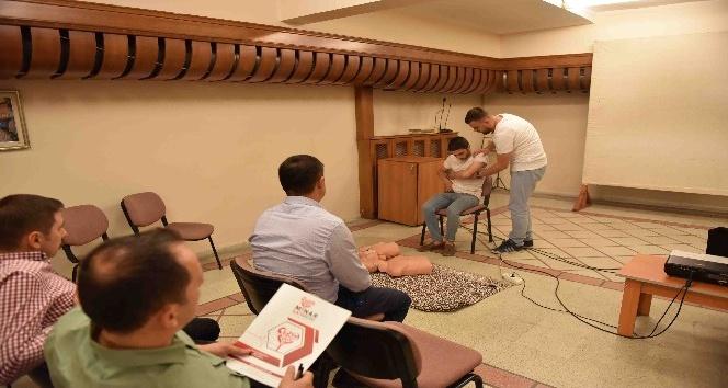 Taşköprü Belediyesi personeline ilk yardım eğitimi