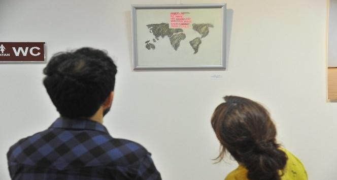 SAÜ'de 'Birlikte' karma resim sergisi açıldı