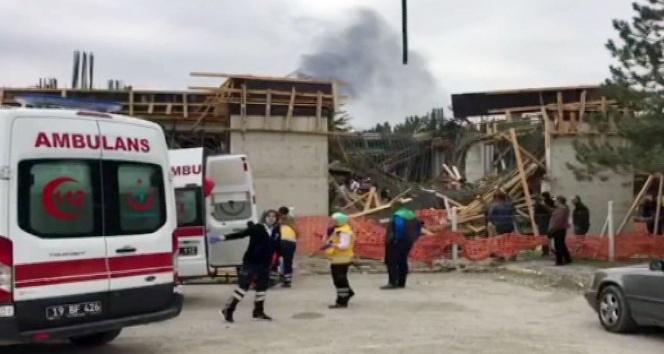 Çorum'da müze inşaatında çökme: 6 yaralı