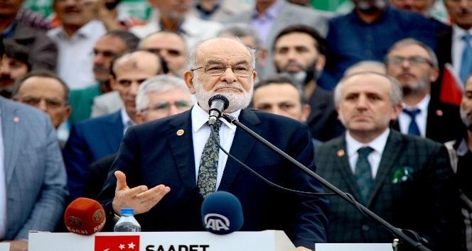 Saadet Partisi Giresun'da fındık çıkartması yaptı