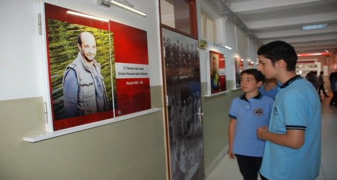 Anadolu Lisesinde 'şehitler koridoru'