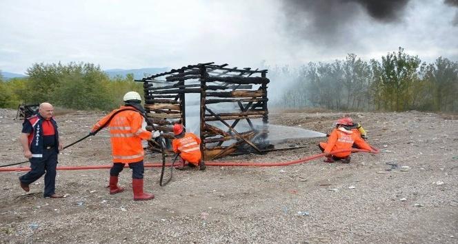 Niksar'da yangın tatbikatı gerçekleştirildi