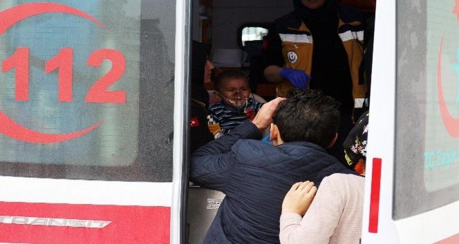 Yangından etkilenen çocuklar gözyaşlarına boğuldu