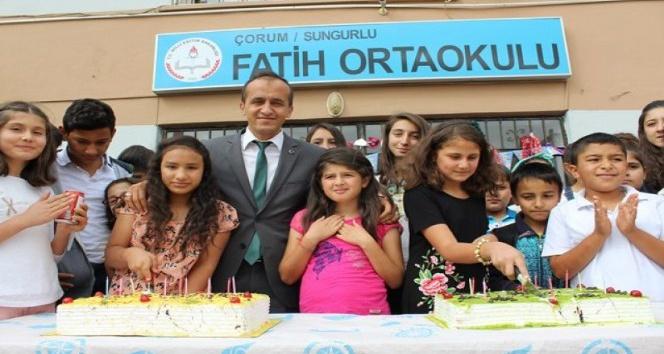 Sungurlu'da 'Doğum günümü okulda kutluyoruz' projesi