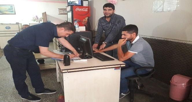 Tatvan'daki internet kafeler denetlendi