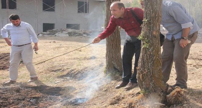 Topraktan çıkan dumanlar tedirgin etti