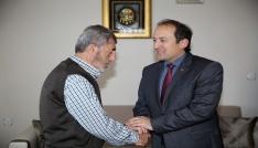 Vali Ali Hamza Pehlivan, Hac İbadetini tamamlayarak dönen şehit ailesini ziyaret etti