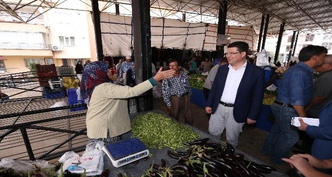 Başkan Subaşıoğlu Karaman pazaryerini ziyaret etti