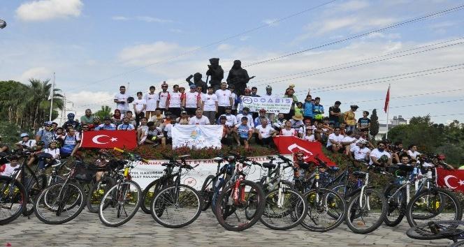 """Hatay'da """"kalbin için pedal çevir"""" bisiklet turu düzenlendi"""