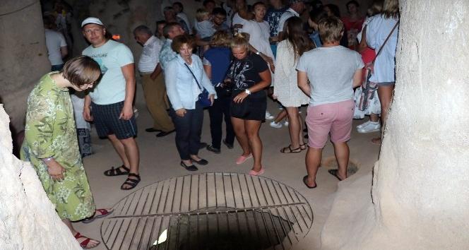 (Özel haber) Kırkgöz Yeraltı Şehri ziyaretçilerini büyülüyor
