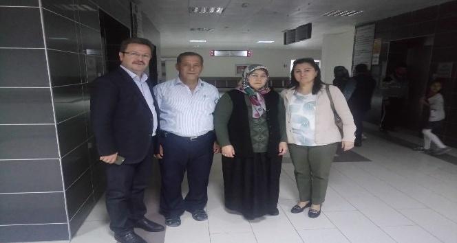 Vali Ünlü, Üroloji Doktoru Yarımoğlu'nu ziyaret etti