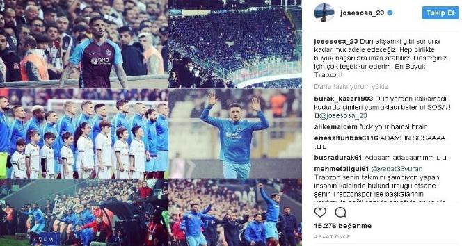 Sosa'dan anlamlı Trabzonspor paylaşımı