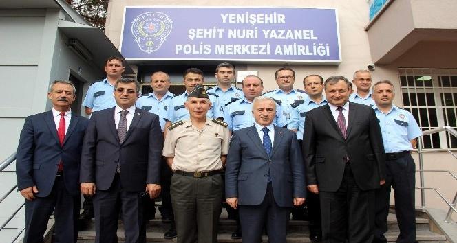 Vali Kamçı'dan Yenişehir Polis Merkezi'ne ziyaret